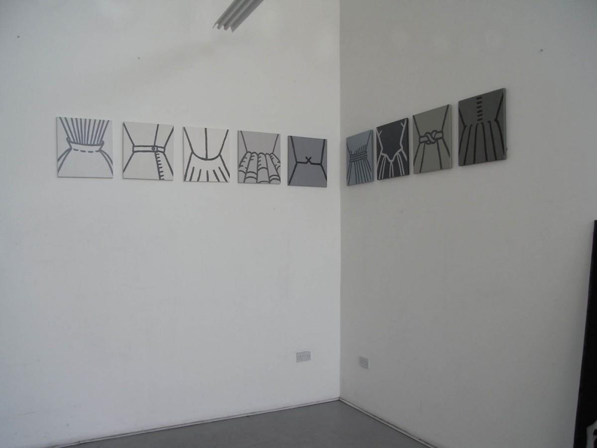 Waistlands, 9 canvases