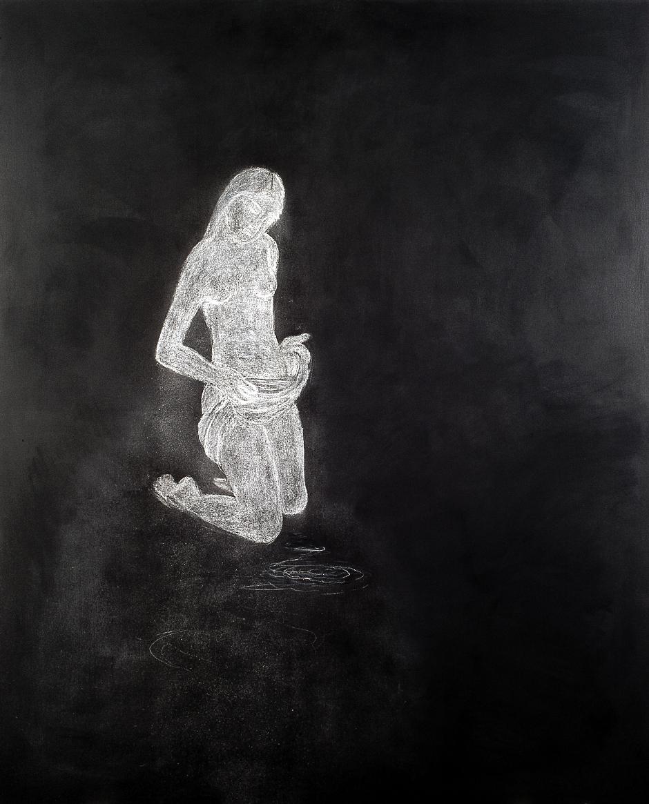 Kneeling girl